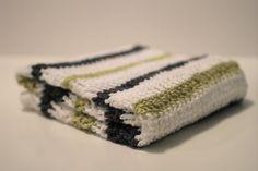 Modern Stripe Boy Baby Blanket  Crochet Baby blanket  by OrangeOdge, $80.00