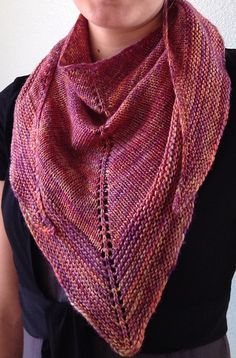 Banter Shawlette by Joyce Fassbender. malabrigo Silky in Archangel colorway.