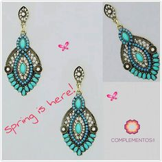 Lovely Blue Morrocan earrings #springedition   Para más info contactanos : 809 853 3250 / 809 405 5555 Pagos a través de Paypal  Delivery  Envoltura disponible   #newarrivals #available #newcollection #earrings #aretes #gold #blue #fancy #accesories #jewelry #chic #trendy #delicate #precious #glam #gorgeous #unique #fancy #byou #becomplete #pretty #moroccan #complementosjewelry #complementosrd