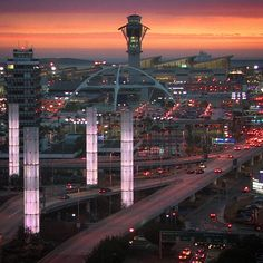A beautiful sunset with clouds and light rain, captured by NBC4's #LAX cam.