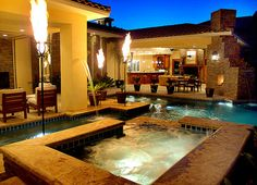 Love this beautiful spa, pool and outdoor space!