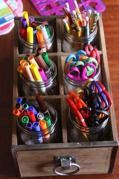 Art Supply Caddy with Home Goods clearance find organization ideas #organization #organized