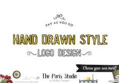 Custom Logo Design Hand Drawn Style: Pay As You Go