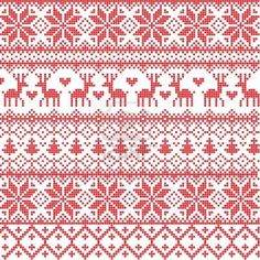 70 Ideas Crochet Christmas Stocking Fair Isle – The Best Ideas Motif Fair Isle, Fair Isle Chart, Fair Isle Pattern, Knitting Charts, Knitting Stitches, Knitting Designs, Intarsia Knitting, Jaquard Tricot, Cross Stitch Designs