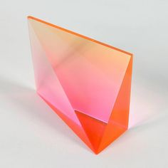 Orange Wedge    From a unique collection of abstract sculptures at https://www.1stdibs.com/art/sculptures/abstract-sculptures/