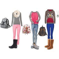 3 outfits para el colegio