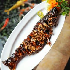 One of the best Ikan Patin Bakar (•˘ڡ˘•) More info, click here bit.ly/rempahwangiresto