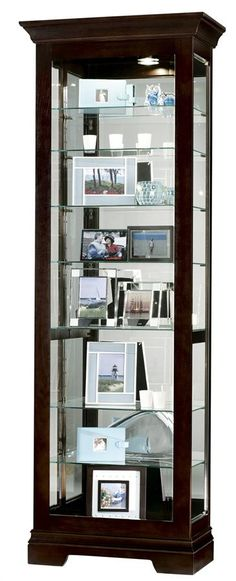 Saloman Modern Curio Cabinet w Black Coffee Finish