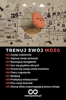 Umysł jest jak mięsień. Trzeba do ćwiczyć, żeby nie zanikł. Oto 10 sposobów na trening mózgu. Gewichtsverlust Motivation, School Motivation, E Mc2, Postnatal Workout, Coping Skills, Health Advice, Study Tips, Good Advice, Self Development
