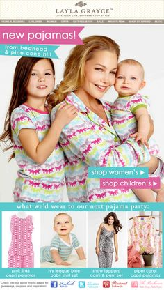 Pajama Party! New PJ's from Bedhead and Pine Cone Hill