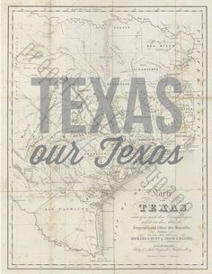 Texas Our Texas DIGITAL DOWNLOAD INSTANT art by nancypage on Etsy