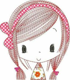 Hand Embroidery Patterns, Embroidery Applique, Drawing For Kids, Art For Kids, Baby Posters, Kawaii Doodles, Cute Wallpaper For Phone, Digi Stamps, Cute Images