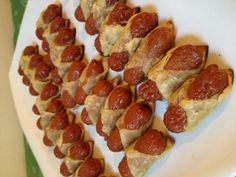 Nitrate free organic, pasture raised cocktail sausages with puff pastry Cocktail Sausages, Catering, Spoon, Cocktails, Organic, Treats, Dishes, Free, Craft Cocktails
