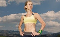 Lauren Fleshman shows RW the routine she uses to shape her awesome abs.