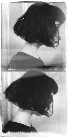 Black Bob hair, hairstyles & haircuts & bowlcuts that are the blackest of black (and occasionally other colours!) Take the tags with a pinch of salt, I'm not a fashion/film historian or anything I just like the haircut haha. Messy Bob, Black Bob, Foto Art, Hair Dos, Cut And Color, Bob Hairstyles, Her Hair, Hair Inspiration, Short Hair Styles