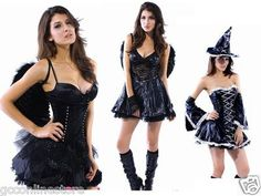 Sexy Hot Womens Halloween Party Devil Pirate Vampire Fancy Dress Outfit Costume   eBay