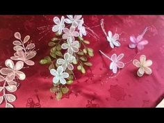 ▶ Nail Polish and Wire Flowers - YouTube