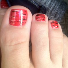 A fun toe nail design.