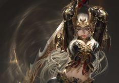 ArtStation - League of Angels - Origins, 신태섭-申泰蹑(Steve) 신 Fantasy Art Women, High Fantasy, Dark Fantasy Art, Fantasy Girl, Fantasy Artwork, Warrior Girl, Fantasy Warrior, Fantasy Characters, Female Characters