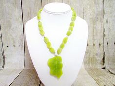 Jade Necklace with Pendant  - J14 - by daksdesigns on Etsy