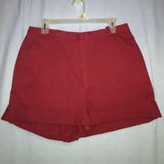Vintage high waist maroon shorts High waisted, vintage, maroon, nice material but only worn once!! Super cute and comfy Liz Claiborne Shorts