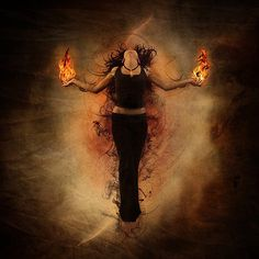 'I burn with the Fire and It burns with Me  Flames from my Eyes and Flames at my Feet  I spark and cinder, My body an Ember  And all for the Gods, my Past remembered'.