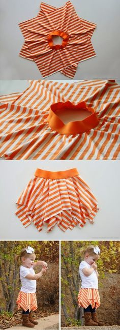 DIY Projects with One Yard or Less of Fabric DIY Skirt Tutorial from Make It & Love It. I can't sew so can someone make this for me?DIY Skirt Tutorial from Make It & Love It. I can't sew so can someone make this for me? Kids Crafts, Diy And Crafts, Craft Projects, Projects To Try, Baby Crafts, No Sew Projects, Baby Diy Projects, Kids Diy, Sewing Hacks