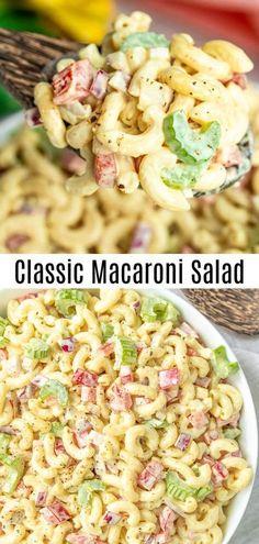 Southern Macaroni Salad, Classic Macaroni Salad, Macaroni Salad With Ham, Sweet Macaroni Salad Recipe, Summer Macaroni Salad, Elbow Macaroni Recipes, Summer Pasta Salad, Homemade Macaroni Salad, Classic Salad