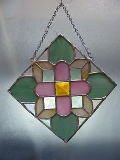 Stained Glass Floral by PrismStainedGlass on Etsy, $45.00
