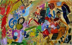 "R I T M O  Jose Manuel Merello.- ""Paisaje del ritmo"" //  ""Ritm landscape"" (81x130 cm) Mix media on canvas  Contemporary landscapes. Fine art. SPANISH ARTISTS. http://www.merello.com"