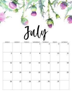 2020 Free Printable Calendar – Floral – Paper Trail Design – Office Organization At Work Cute Calendar, Printable Calendar Template, Print Calendar, Kids Calendar, Calendar Pages, 2021 Calendar, Printable Planner, Free Printables, August Calendar