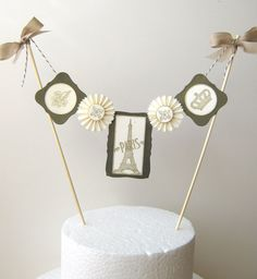 Cake Bunting Eiffel Tower Paris French Cake by CharonelDesigns, $26.95