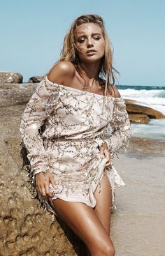 Pure Gold Color Sequins Sexy Off Shoulder Long Sleeve Dress
