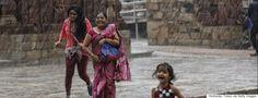 First rains of the monsoon season
