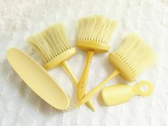 Lot Antique French Ivory Hair Brushes France by GrandVintageFinery #vogueteam #gifts