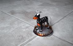Houndoom (It has silver clawssorry they are hard to see.)