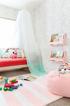 emily henderson transforms a ülayroom with the pillowfort kids decor collection from target...