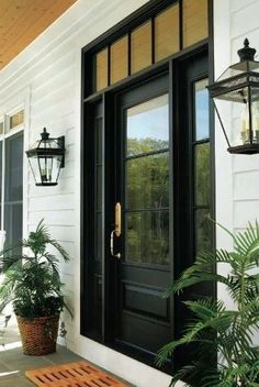 Picking out front doors has been one of my favorite things yet, and I can't wait to see them in place. Especially, farmhouse front door entrance give us comfy mind. The door is frequently the location where you can definitely… Continue Reading → House Front, House Exterior, New Homes, Door Makeover, Farmhouse Front Door, Exterior Doors, Porch Area, Front Door Design, Doors