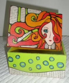 cajas fibrofacil, pintadas cajas artesanales, pintadas a mano fibrofacil,acrilico,impermeabilizante pintadas a mano Creative Crafts, Diy And Crafts, Arts And Crafts, Tole Painting, Painting On Wood, Painted Boxes, Hand Painted, Posca Art, Craft Box