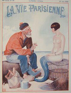 La Vie Parisienne Vintage Magazine Cover