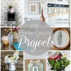 Diy home decor projects crafts for room easy link party features i heart 5 minute tutorials . diy home decor projects hallway signs crafts tutorials . 50 Diy Crafts, Decor Crafts, Home Crafts, Diy Home Decor Projects, Diy Projects To Try, Decor Ideas, Craft Projects, Interior Design Minimalist, Diy Rangement