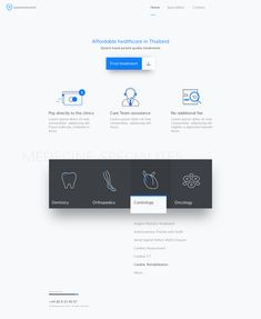 Medical Homepage Design