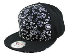 Bandana Print Snapback Cap - HATCOcaps.com  - 1