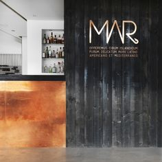 Dark wood + lit up cutouts = I have no idea what to do with this but I'm totally digging it.  MAR restaurant | Reykjavik
