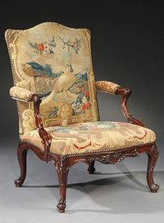 English, circa 1755 <br/> <br/>Height: 40 ¼ in; 103 cm <br/>Height of seat: 16 in; cm <br/>Width: 28 ½ in; cm <br/>Depth: 27 ¾ in; Georgian Furniture, Antique Furniture, Art Deco Furniture, Furniture Styles, Classic Furniture, Luxury Furniture, Winged Armchair, Victorian Sofa, Sofas