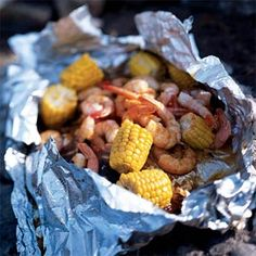 Barbecued Lime Shrimp and Corn.   I added zucchini and ate it over noodles..delish |