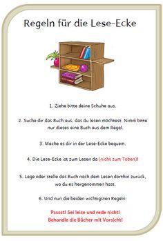 Wahnsinnsklasse: Regeln für die Lese-Ecke