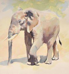 Hazel Soan speed painting an elephant