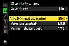 . Nikon D5500 explain auto ISO interval timer for custom anti shake