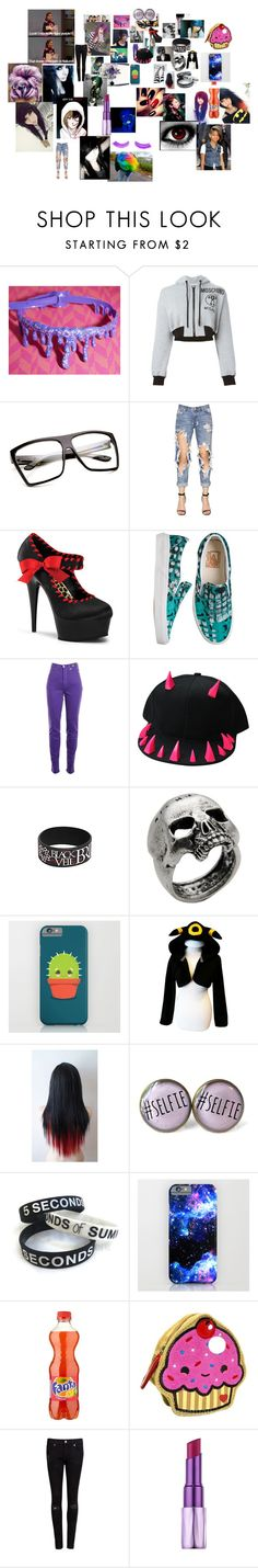 """EVERYTHING"" by blue-jayjay on Polyvore featuring Sephora Collection, Moschino, One Teaspoon, YOUNOW, Pleaser, Vans, Versace Jeans Couture, John Richmond, RMK and Mikey"